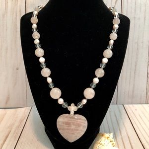 Lee Sands Rose Quartz Necklace